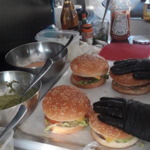 cusine food truck hamburger