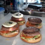 montage hamburger food truck