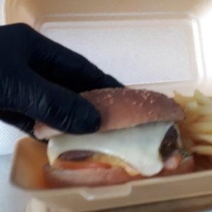 Hamburger frites food truck