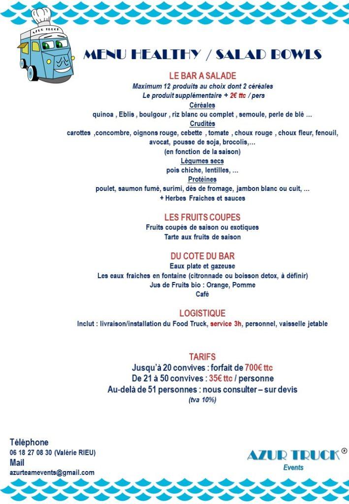 azur truck events menu healthy