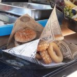 burger et fritures en cornets
