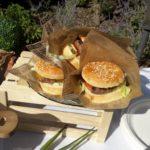 mini burger en cornet